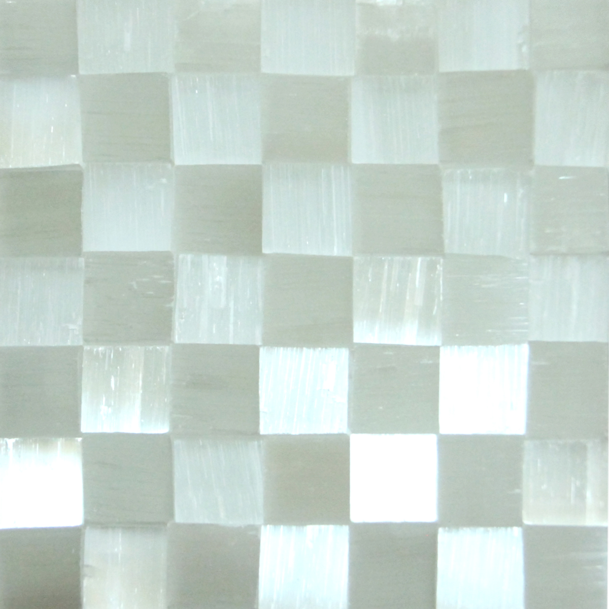 Selenite / Gypse Chequered Tile