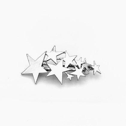 Major Bling Hairpins  - Silver Galactic