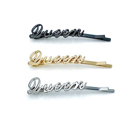 Hairquips™ Script Hairpins - Queen