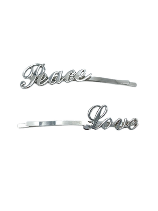 Hairquips™ Script Hairpins - Peace Love