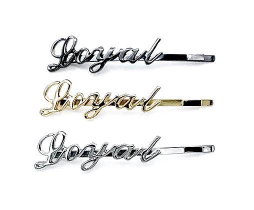 Hairquips™ Script Hairpins - Loyal