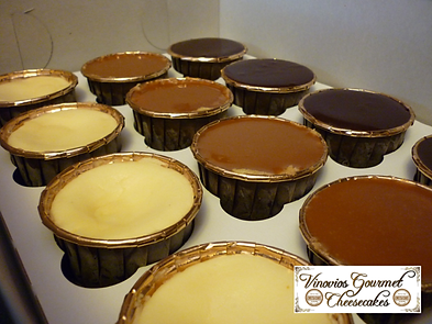 Vinovios Gourmet Cheesecakes Cupcake Sampler