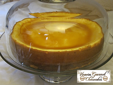 Vinovios Gourmet Cheesecakes Caramel Waves Cheesecake