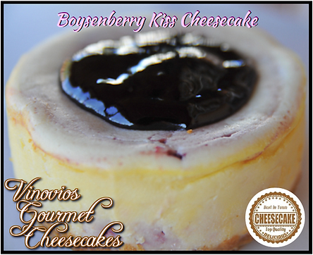 Vinovios Gouremt Cheesecake Boysenberry Kiss Cheesecake