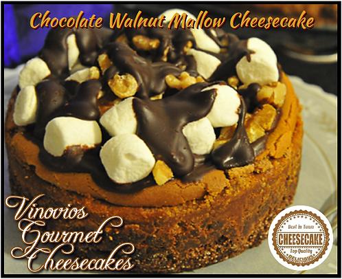 Chocolate Walnut Mallow Cheesecake