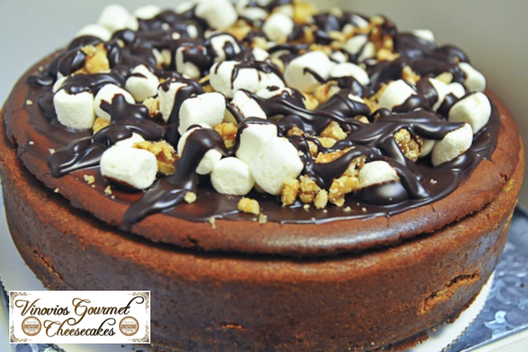 Vinovios Gourmet Chocolate Walnut Mallow Cheesecake