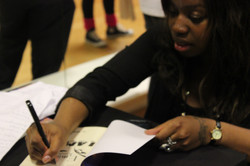Signing books at the EK launch