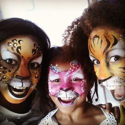 Instagram - Jungle fever #leopardprint #tigerprint #cat #facepaint #immature #bo