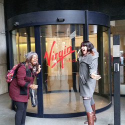 Instagram - Interesting day at Virgin HQ today! Love hanging with this lady @hel
