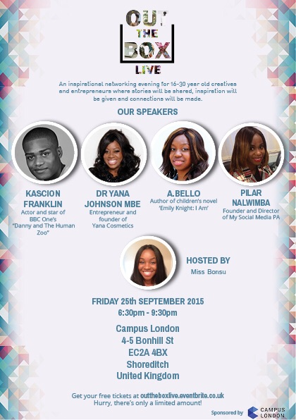 Will be speaking at Out The Box Live