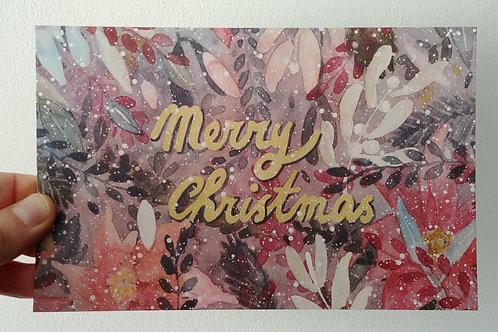 """🎀 Carte de vœux """"Merry Christmas"""" - grand format 🎀"""
