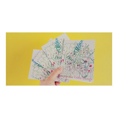 "Carte ""enjoy the little things"""