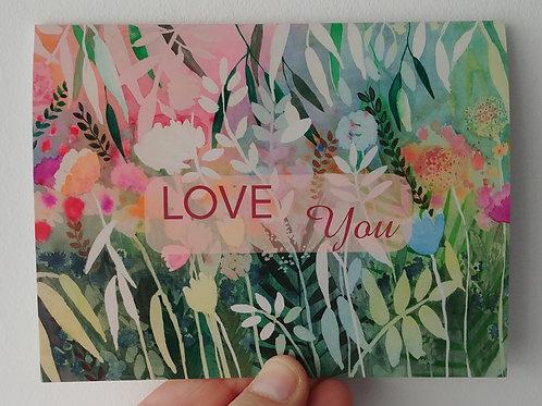 """Carte de Saint-Valentin """"Love you"""" - petit format"""