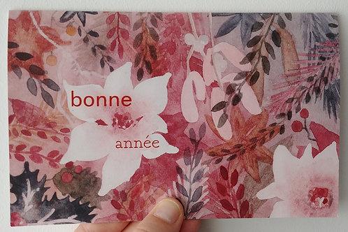 """🎀 Carte de vœux """"bonne année"""" - grand format 🎀"""