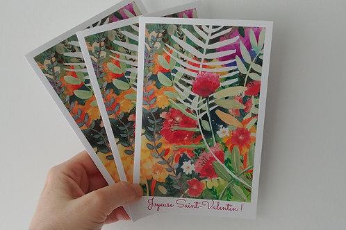 "Carte de Saint-Valentin ""Joyeuse Saint-Valentin"" - grand format"