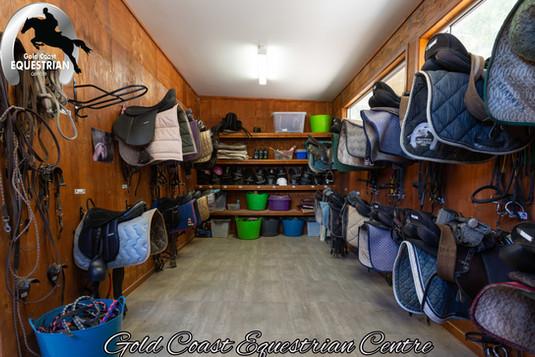 Clients tack room