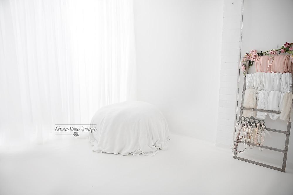 all white minimalist newborn photography Peterborough