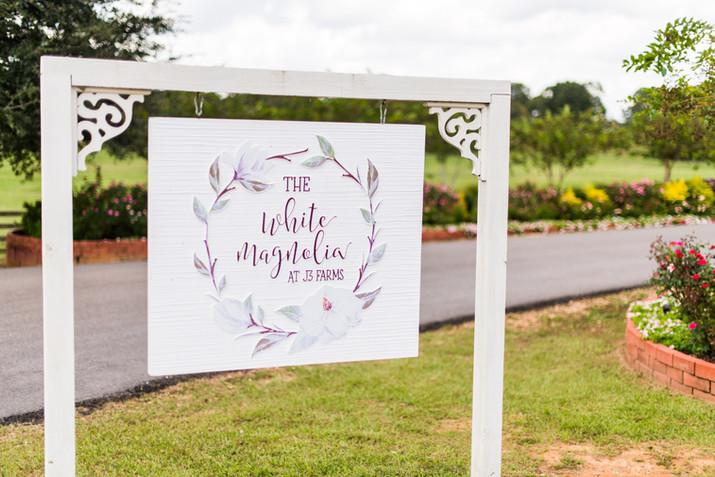 Mr. and Mrs. Bishop Wedding   White Magnolia