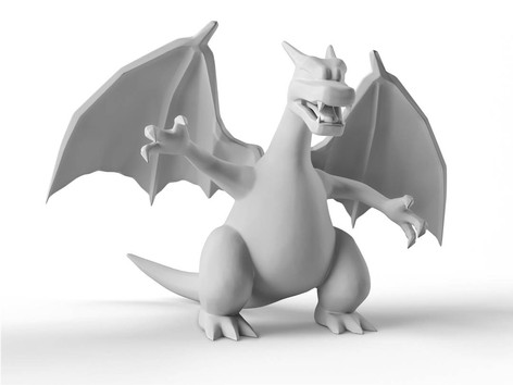 Zbrush Elementary Course Charizard Clay.