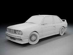 Advanced 3D modeling Course BMW E30 M3 4
