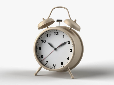 Elementary 3D modeling course Clock Rend