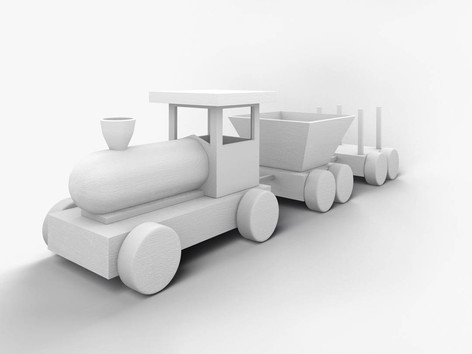 Elementary 3D modeling course Train Clay