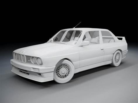 Advanced 3D modeling Course BMW E30 M3 3