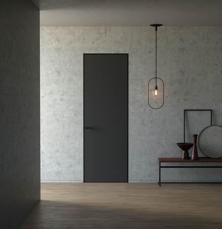 Modern Door Matte Black MediaLab Product