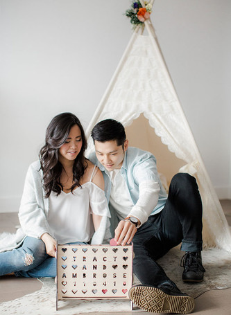 Inspired By This Cozy Glamping at Home Engagement Photos