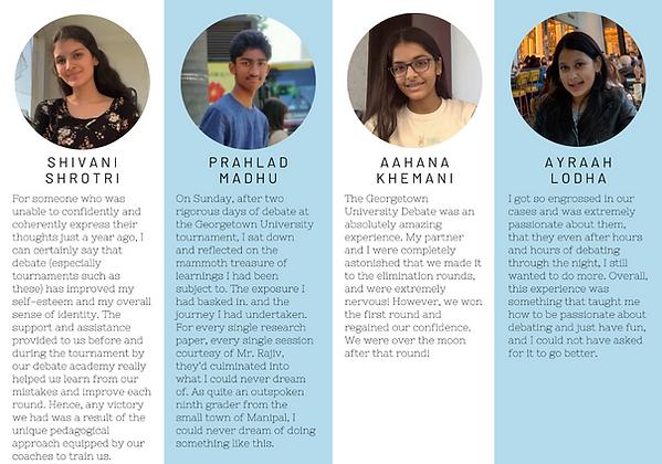 Speech and Debate India Student Reflecti