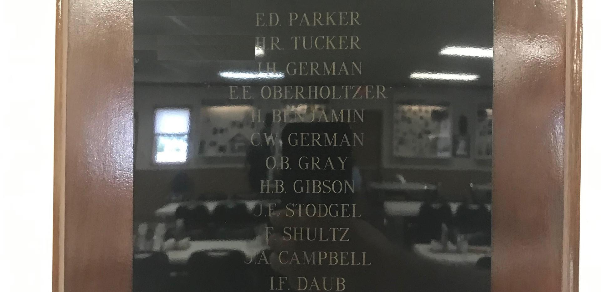American Legion Post 371 Charter Members