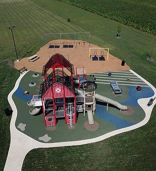 Playground Barn Raising