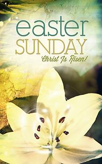 Easter Sunday Church Bulletin Design .pn