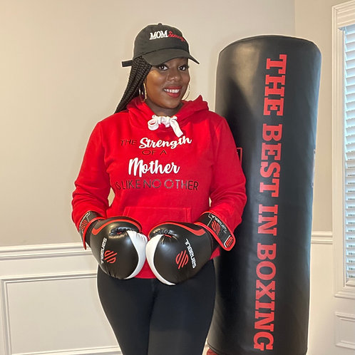 Mom Strength Hoodie (Red)