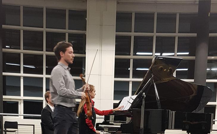 Répétition des musiciens de l'Académie de l'Opéra de Paris, en présence de Madame Natalia Logvinova Smalto, en préparation du Prix des musiciens - Opéra de Paris 2020