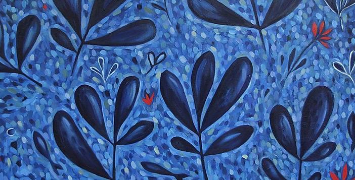 Blue Garden 101cm x 101cm