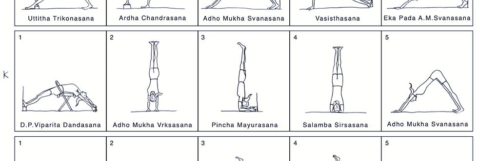 YOGA SEQUENCE JKL - A4 Black & White downloadable pdf