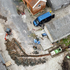 Drone footage of treatment plant