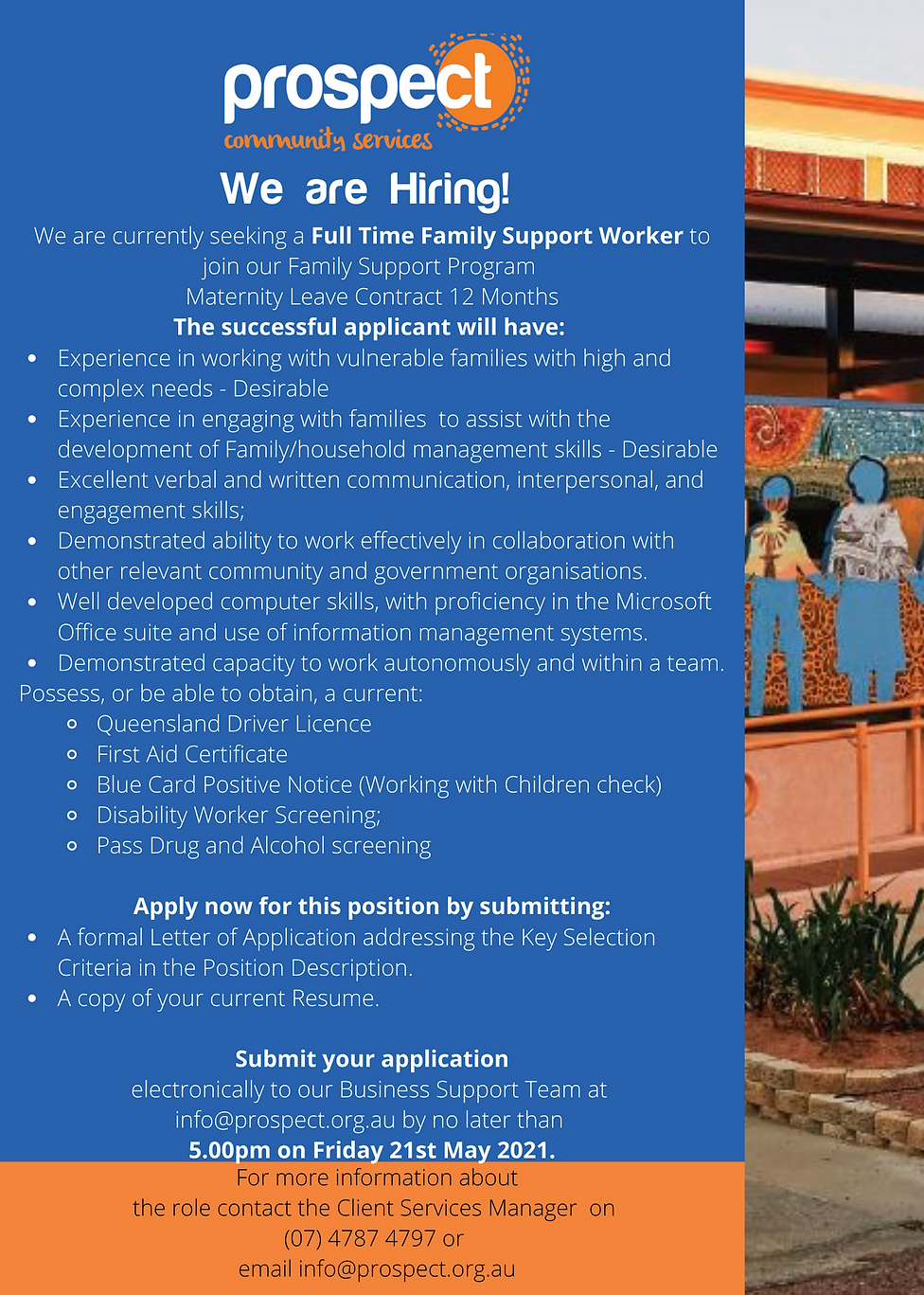 Family Support Officer -  Job Vacancy .p
