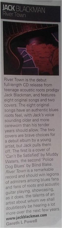 Jack Blackman Review Acoustic Magazine