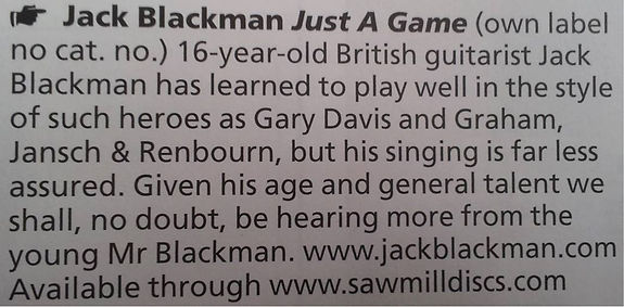 Jack Blackman Review fRoots
