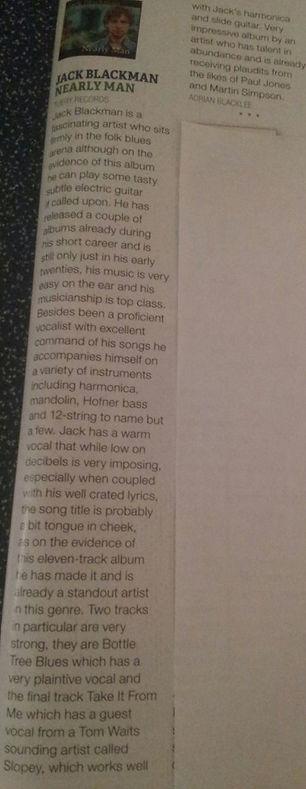 Jack Blackman Review Blues Matters