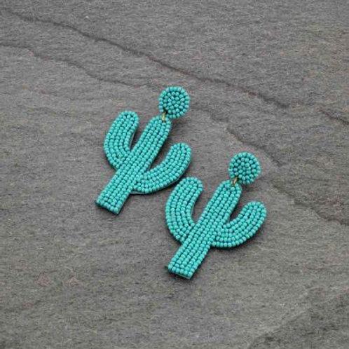 Turquoise Cactus Earrings