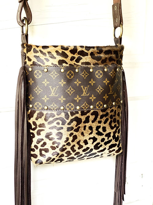 Original Leopard Dark Brown Fringe