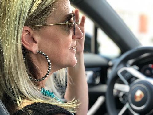 Navajo Pearl Style Earring Hoops