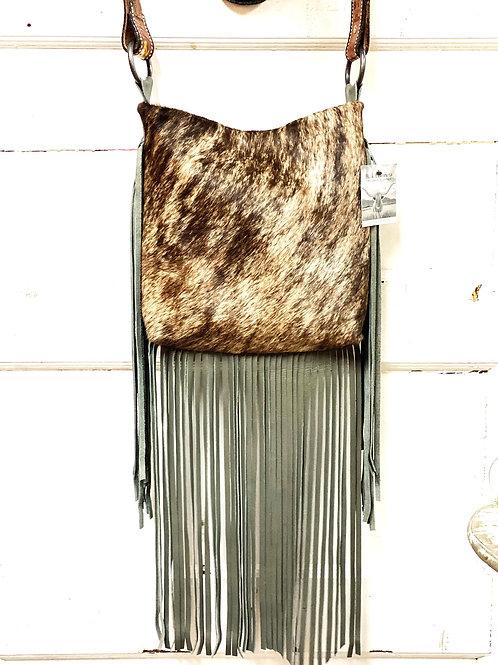 Henry Silver Brindle Brown Cowhide Eagle Bag