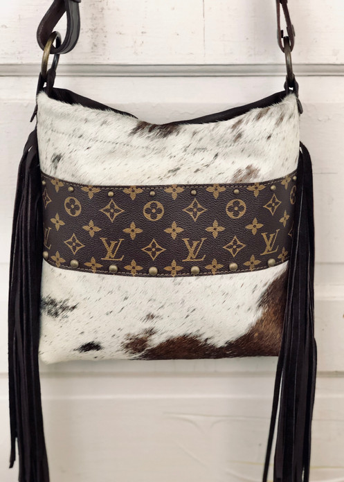 84479724c832 Reserved   Upcycled Louis Vuitton Bag Cowhide Purse