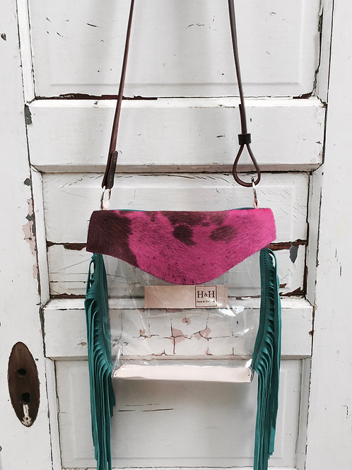 Hetty Clear Bag, Stadium Clear Bag Policy Approved, Pink Turquoise