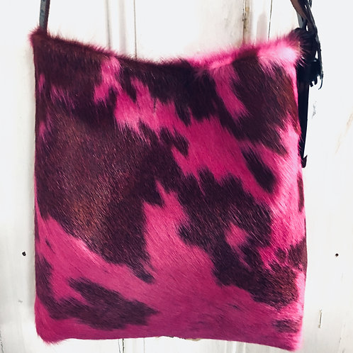Pink Dyed Hair on Hide Cowhide Original Bag