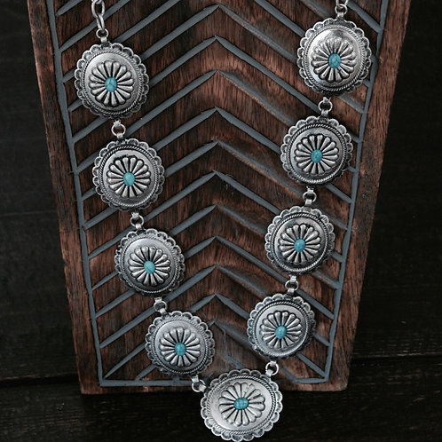 Boho Western Chic Concho Necklace